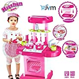 JVM Luxury Battery Operated Portable Kitchen Set for Girls, Pink (Kitchen Set 0058)