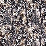Fabulous Fabrics Jersey Stoff Scuba Ornament Leo – braun