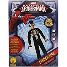 E.V.A músculo del pecho del hombre araña negro traje. Media de 5-6 años.