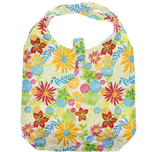 Zac 's Alter Ego® Heavy Duty Einkaufstasche in Tasche White with Summer Floral Print