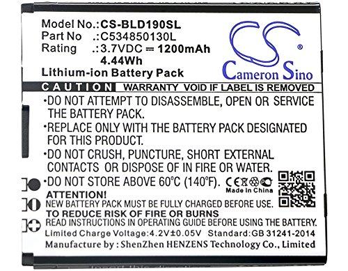 CS-BLD190SL Akku 1200mAh [Blu] D190, Dash Jr 3g ersetzt C534850130L - Dash 3g
