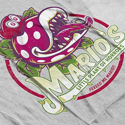Super Mario Little Plant Of Horrors Men's Hooded Sweatshirt Heather Grey