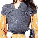 Flybiz écharpe de portage, Porte bébé, Écharpe Multifonctionnel pour les Nouveau-nés et Bébés Jusqu'à 25 kg, je porte mon bebe, porteur enfant, porteur bebe fille et garcon, echarpe de portage noeud