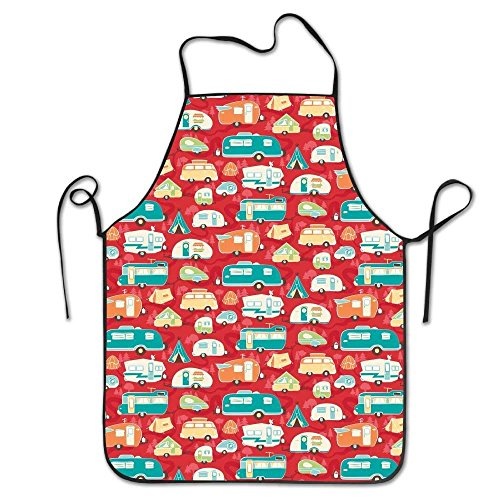 Road Trip Road Trailer Red Aprons Home Bib Apron for Women Men Girl Kids Gifts Kitchen Decorations