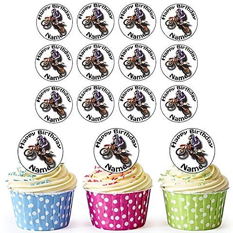 Motocross 30personalisierte Essbare Cupcake Topper/Geburtstag Kuchen Dekorationen–Einfache vorgeschnittenen (Harley Davidson Chaps)