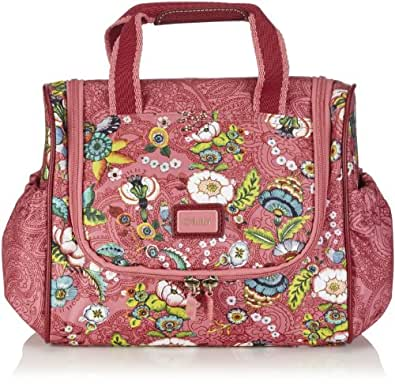 Oilily Womens French Flowers Travelkit Pink Cosmetic bag Pink Pink (pink 402) Size: 24x21x12 cm (B x H x T)