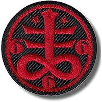 Occult satanic symbol - bordado parche, 6x6 cm