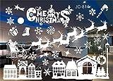 Skitic Weihnachten Fensterbilder Selbstklebend Fensterdeko Weihnachtsdeko Schneeflocken Fenstersticker Home Decor