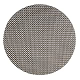 HYSENM 4 Stücke PVC geflochten Tischmatten Tischsets Platzsets Platzdeckchen Platzmatten Placemats rund, Schwarz Durchmesser 35cm