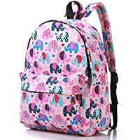 Lily & Drew Lightweight Canvas Daypack Rucksack Backpack (Elephant Pink Medium)