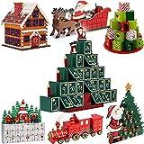 Wiederverwendbarer Adventskalender zum Befüllen 24 Türchen Weihnachten Kinder DIY 2019 weihnachtliche Holz Dekoration