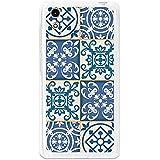 BeCool - Funda Gel Flexible Cubot X9 Azulejos Marroquíes Azules Carcasa Case Silicona TPU Suave