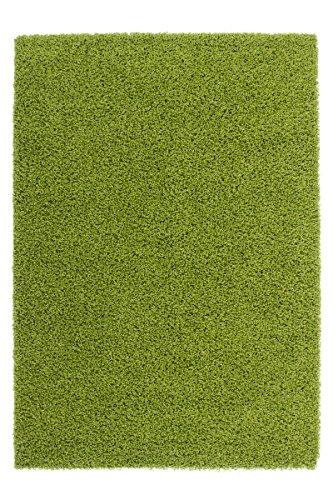 Preisvergleich Produktbild Kayoom 4056216048677 Teppich, 100% Polypropylen Heatset Frisée, grün, 110 x 60 x 5 cm