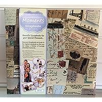 VOPSB10 Voyager Moments, Album per foto, con copertina in tessuto decorata, pagine antiscivolo in carta bianca, copertina in polipropilene protettiva