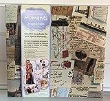 vopsb10Voyager Moments Scrapbook Foto Alben mit verziert Material bedeckt und uni weiß Papier 192Seiten. Polypropylen Schutzhüllen.