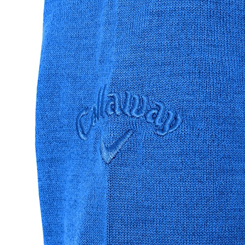 Callaway Herren Merino Mix Windstopper Pullover Magnetic Blue
