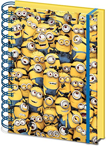 "Image of Despicable Me SR71862 ""Many Minions"" 3D Lenticular Cover A5 Notebook"