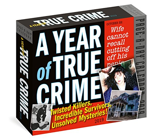 Year of True Crime Page-A-Day Calendar 2019