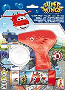Superwings- Pistola Burbujas + pompero, 60 ml (Dulcop 69500172500)