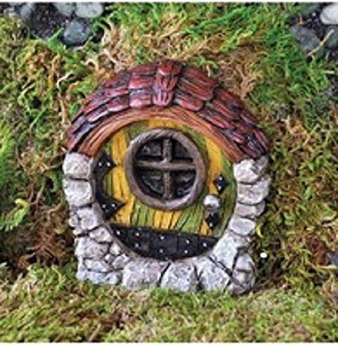 Zubehör-Garten Miniatur Märchenzimmer: Tür gestreift in Farn