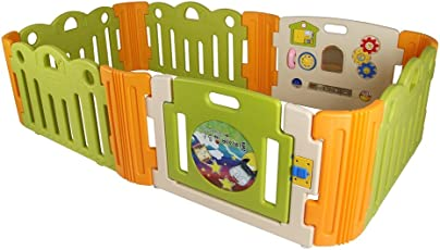 Babycenterindia Room Cloud Plastic Bread with 2 Extension Kit (Beige, Green and Orange)
