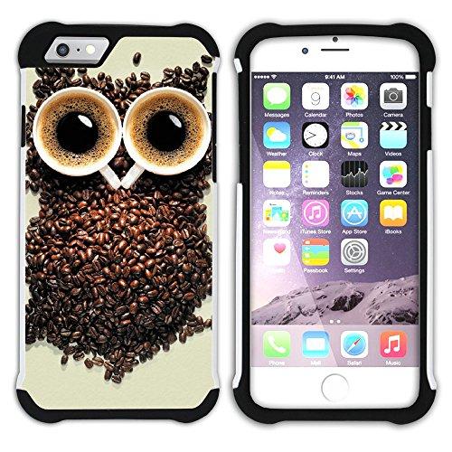 Graphic4You Kaffee Tasse Koffein Hart + Weiche Kratzfeste Hülle Case Schale Tasche Schutzhülle für Apple iPhone 6 Plus / 6S Plus Design #11