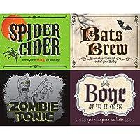 Etichette per bottiglie di Halloween