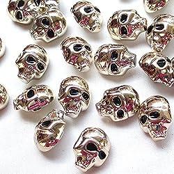 chenkou Crfat 20 unidades de plástico dorado Halloween 20mm costura craft