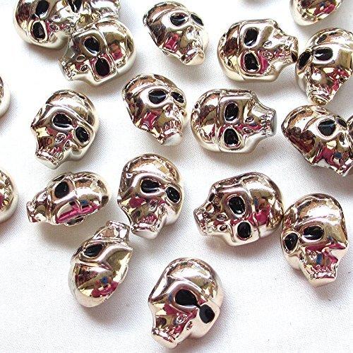 chenkou Crfat 20pcs plástico dorado Halloween calavera botón...