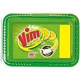 Vim Dishwash Bar Tub Lemon 600g (500g + 100g Free with Scrubber inside the Pack)