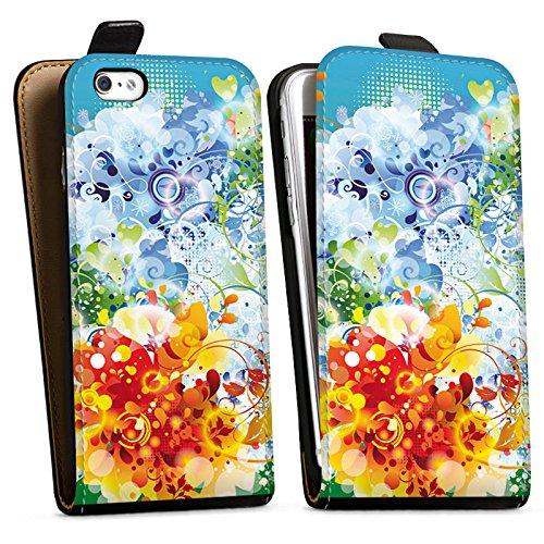 Apple iPhone X Silikon Hülle Case Schutzhülle Floral Muster Ranken Downflip Tasche schwarz