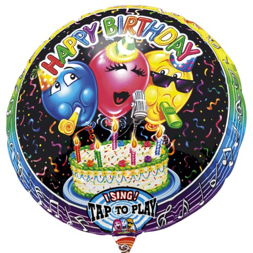 Singing Musik Folienballon Happy Birthday 3 Ballons