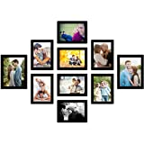 Art Street Photo Frame For Wall Set of 10 Black Picture Frames For Home Decoration , Wall Decor EcoSeries -Size -6x8,5x7 Inch
