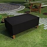 Rectangular Patio Table and Chair Cover, All Weather Waterproof Rain Heavy Duty Outdoor Furniture Cover( 320*191*94cm/280*206*108cm)(L*W*H)[UK Stock] (320*191*94)