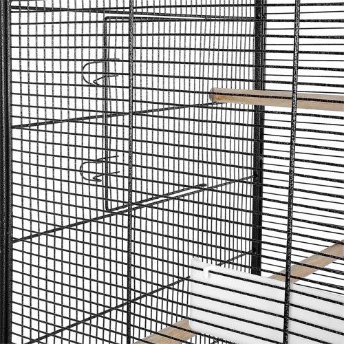 Happypet Vogelvoliere BD004 anthrazit 146 x 54 x 54 cm
