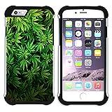 Graphic4You Marihuana Cannabis Hanf Blatt Raucher Design Hart + Weiche Kratzfeste Hülle Case Schale Tasche Schutzhülle für Apple iPhone 7 Plus/iPhone 8 Plus