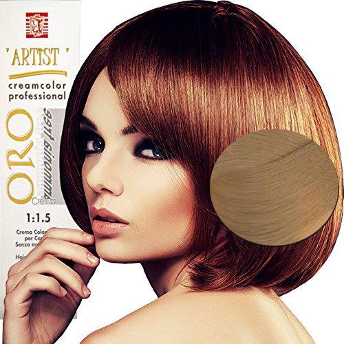 Coloration Professionnelle Pour Cheveux Blonde Extra Très Clair Naturelle sans Ammoniaque 10/0 Permanente 100ml Made in Italy …
