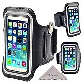 Wisdompro Fascia Da Braccio auricolari Organizer con supporto per Apple iPhone 5/5s/5c, iPod Touch 5 e 6 Touch