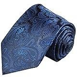 Paul Malone Blaue Paisley XL Krawatte 100% Seidenkrawatte (Überlänge 165cm)