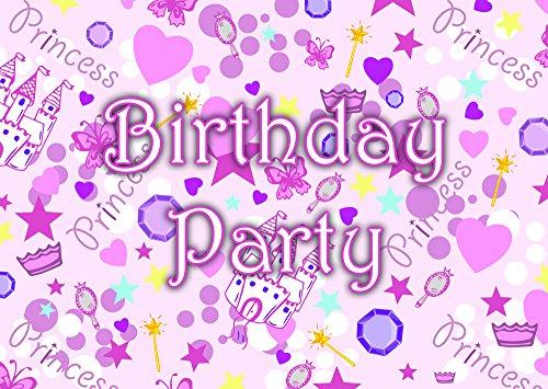 (Prinzessin Thema Geburtstagsfeier Einladungen Einladungen Kinder Kinder Mädchen/Jungen i012)