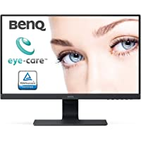 (Renewed) BenQ 23.8 inch (60.4 cm) Edge to Edge LED Monitor - Full HD, IPS Panel with VGA, Display, HDMI, Audio in, Heaphone Ports and in-Built Speakers - GW2480 (Black)