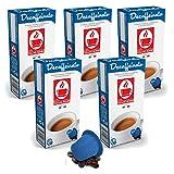 Bonini Kaffeekapseln, Decaffeinato - Nespresso kompatibel - 5er-Pack (5 x 10 Kapseln)