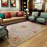 GRENSS 200 cm * 240 cm Romantisch rosa Rose Wolldecke für Wohnzimmer, eleganten amerikanischen Landhausstil Teppich Schlafzimmer, Wolldecke und Mat, A, 130cmx190cm
