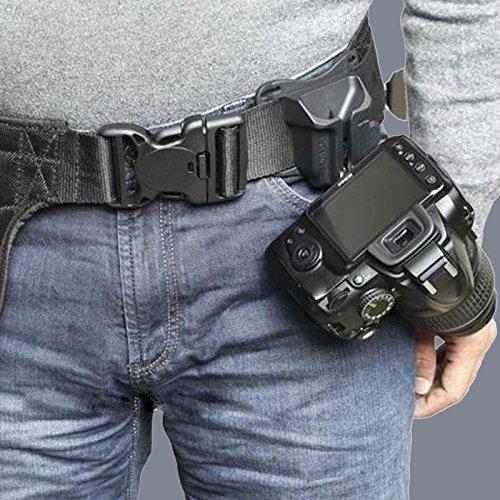Cewaal DSLR-Kamera-Holster-Gurt, schnelle DSLR-Kamera-Foto-Holster-Taille Gürtelschnalle-Knopf-Befestigungs-Bügel für Canon Nikon Sony ect (Befestigung Taille)
