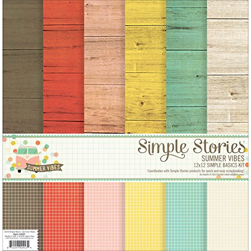 Top Simple Stories Paper Basics Kit 12-inch x 12-inch, Summer Vibes Review