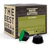 Note d'Espresso - Thé Vert - Capsules Exclusivement Compatibles avec les Machines NESCAFE* DOLCE GUSTO* - 48 caps