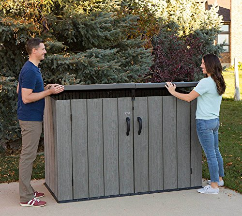 Lifetime Mülltonnenbox Kunststoff Mülltonnenbox, Gerätebox, Aufbewahrungsbox Dunkelgrau - 5