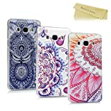 [3-Pack]Mavis's Diary Samsung Galaxy J5 Case (2016 Version) - 3 Pcs Ultra Thin Clear Hard PC Case Easy Grip Slim-Fit Painting Design Slip Resistant Bumper Lightweight Case Cover Pack of 3 for Samsung Galaxy J5 (Not for 2015 Old Version) - Group 8