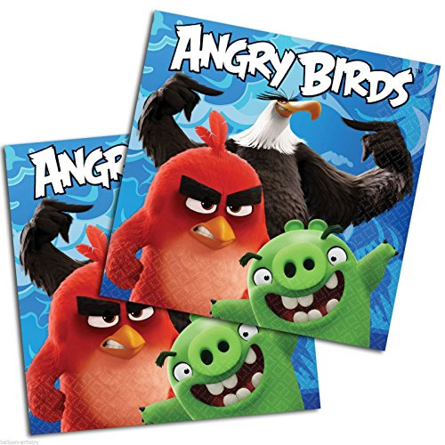 amscan 51159833cm Angry Birds Film Lunch-Servietten (Lunch Specials Halloween)