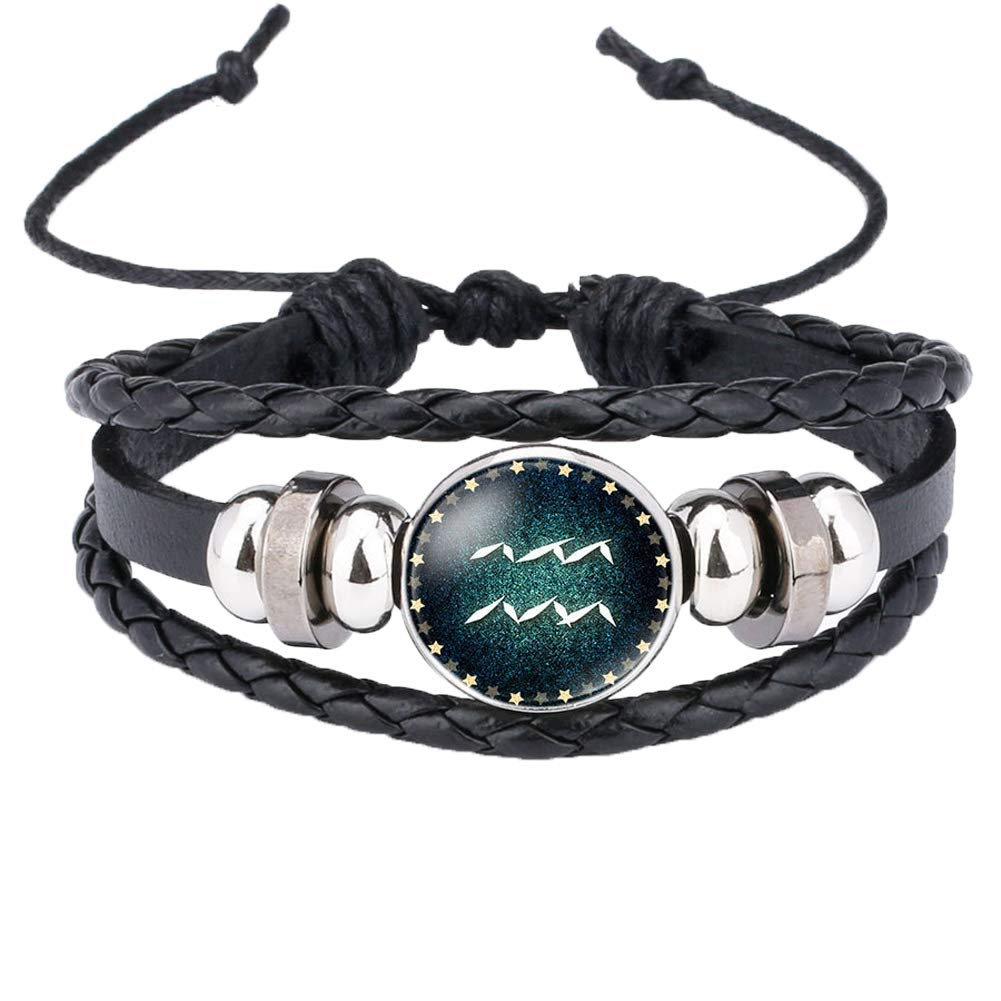 s.bloomy Unisex Bracelet 12 Constellation Time Gemstone Luminous Bracelet